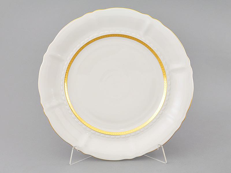 Фото Блюдо Леандер круглое мелкое 32 см Форма Соната Белиссима золото