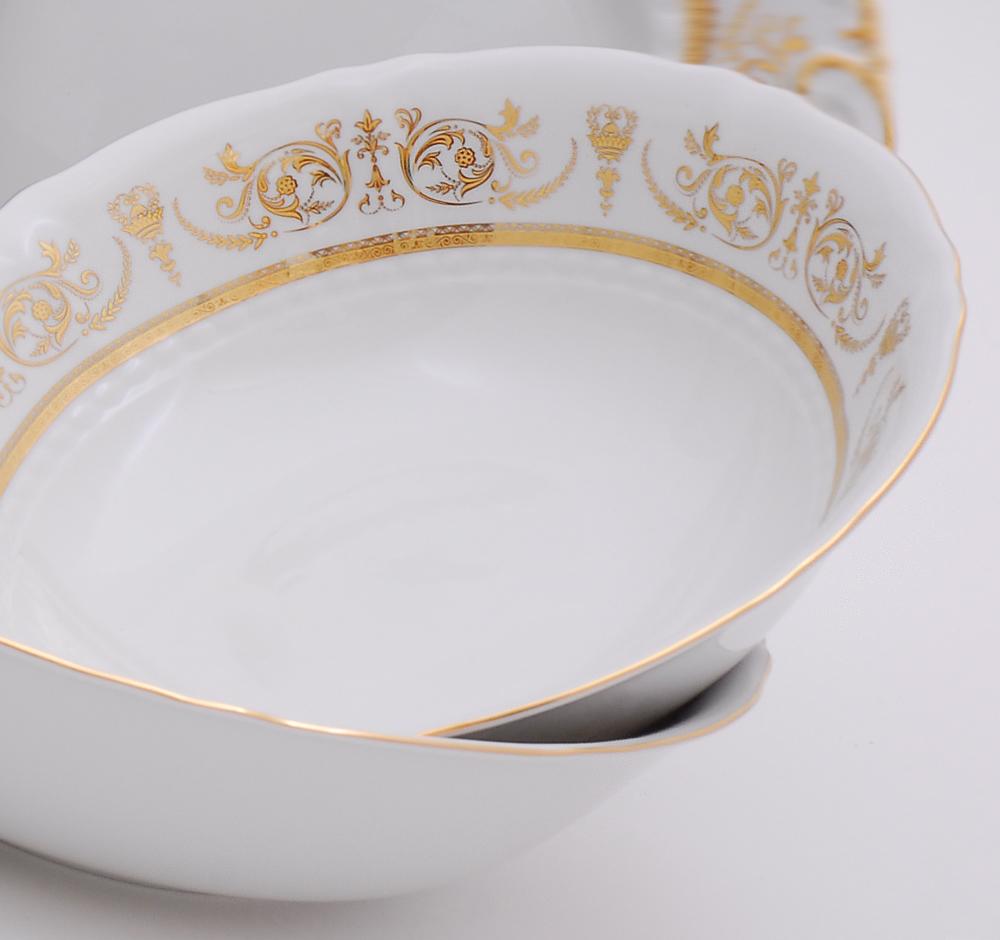 Фото Салатник круглый 23 см Форма Соната Королевский золотой