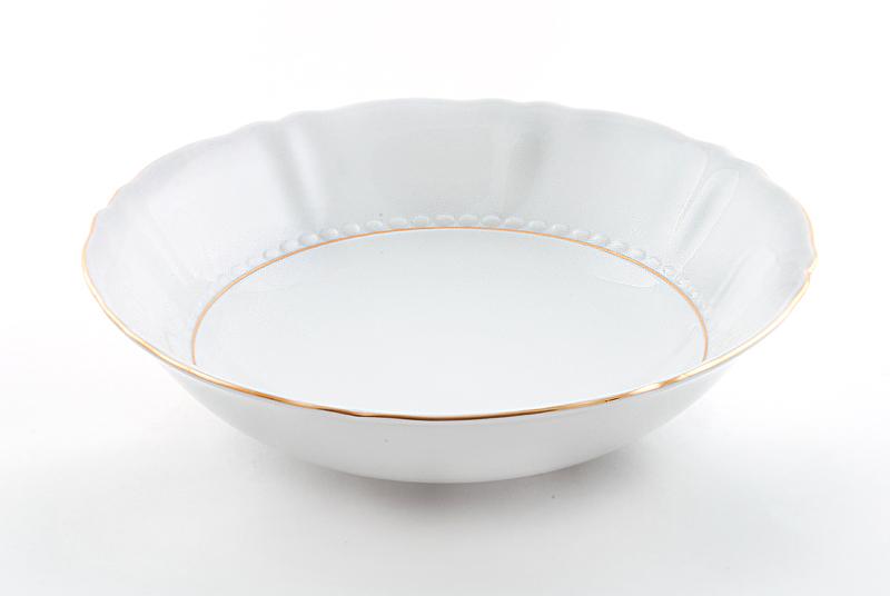 Фото Салатник круглый 26 см Форма Соната Золотой контур