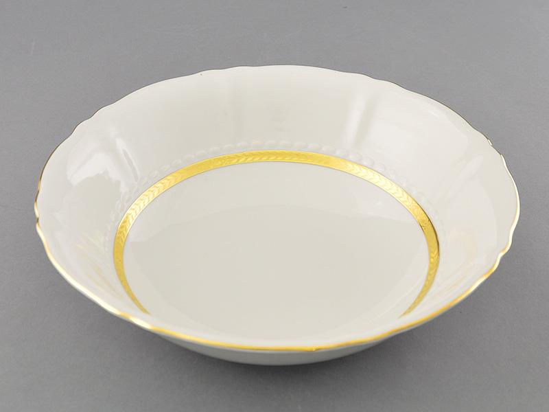 Фото Салатник круглый 26 см Форма Соната Белиссима золото