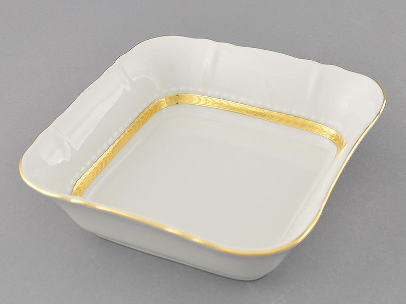 Фото Салатник квадратный 17 см Форма Соната Белиссима золото
