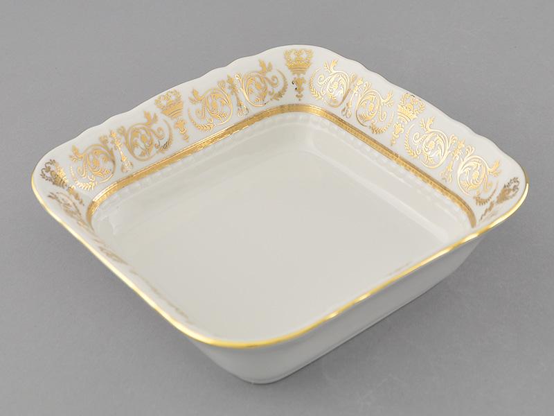 Фото Салатник квадратный 17 см Форма Соната Королевский золотой