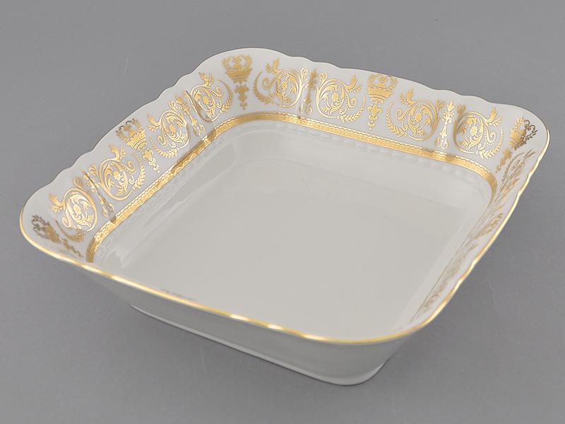 Фото Салатник квадратный 21 см Форма Соната Королевский золотой