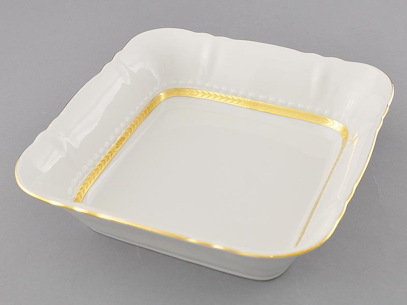 Фото Салатник квадратный 25 см Форма Соната Белиссима золото