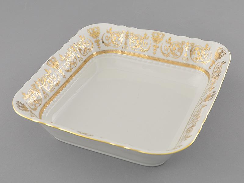 Фото Салатник квадратный 25 см Форма Соната Королевский золотой