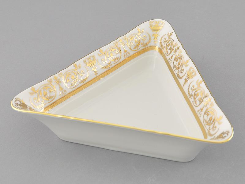 Фото Салатник треугольный 17 см Форма Соната Королевский золотой