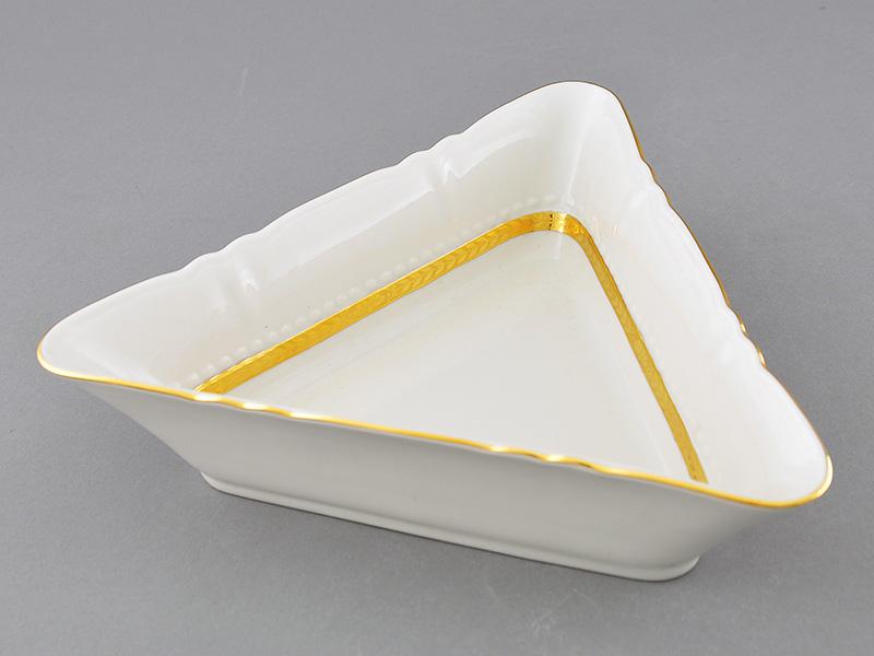 Фото Салатник треугольный 21 см Форма Соната Белиссима золото