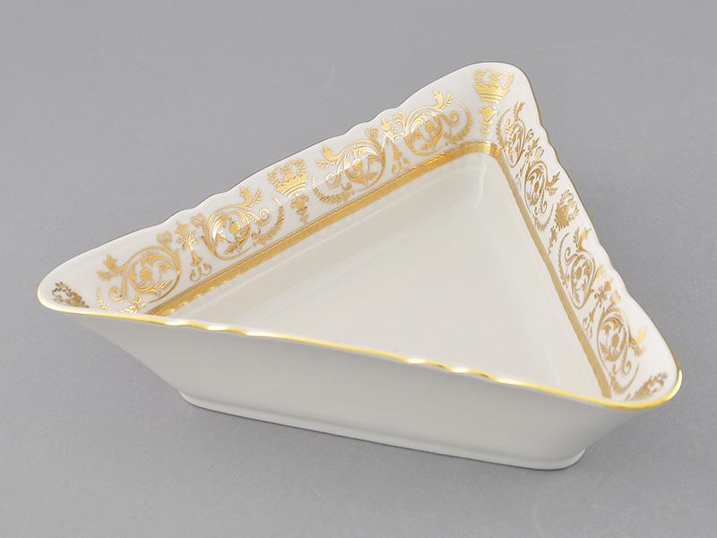 Фото Салатник треугольный 21 см Форма Соната Королевский золотой