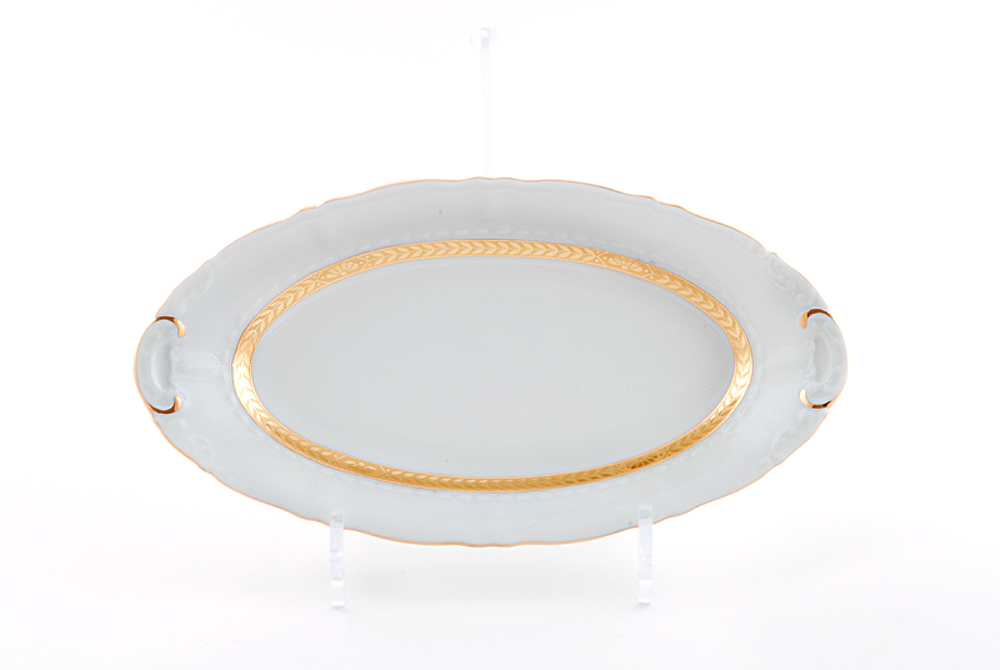 Фото Блюдо овальное Леандер 36 см Форма Соната Белиссима золото