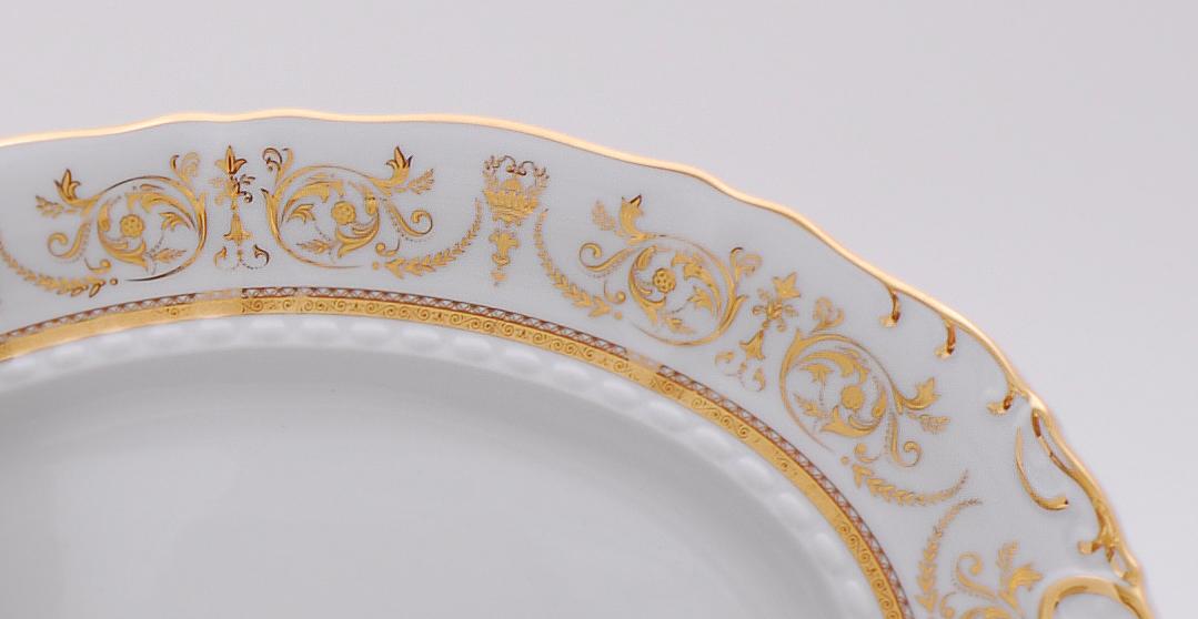Фото Блюдо овальное Леандер 36 см Форма Соната Королевский золотой