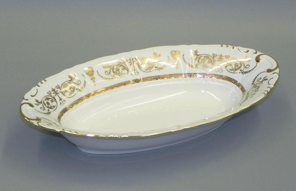 Фото Корзина для хлеба Леандер 33,5 см Форма Соната Королевский золотой