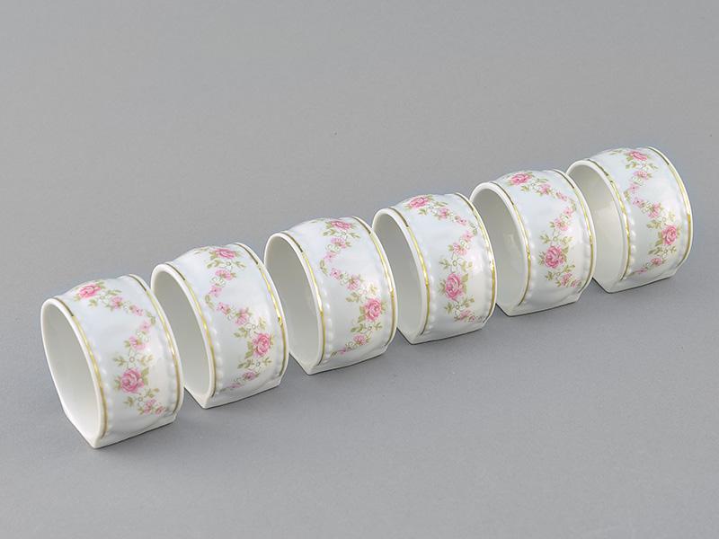Фото Кольцо для салфеток Форма Соната Розовый бордюр