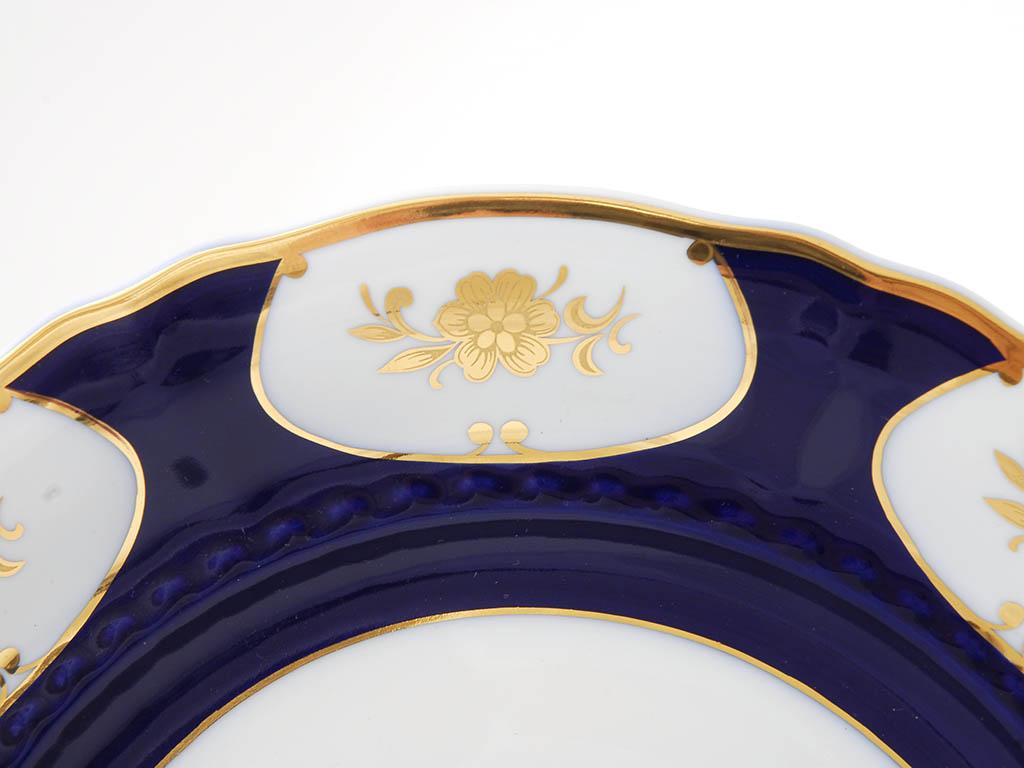 Фото Тарелка для торта на ножке 26 см Форма Соната Элизабет кобальт