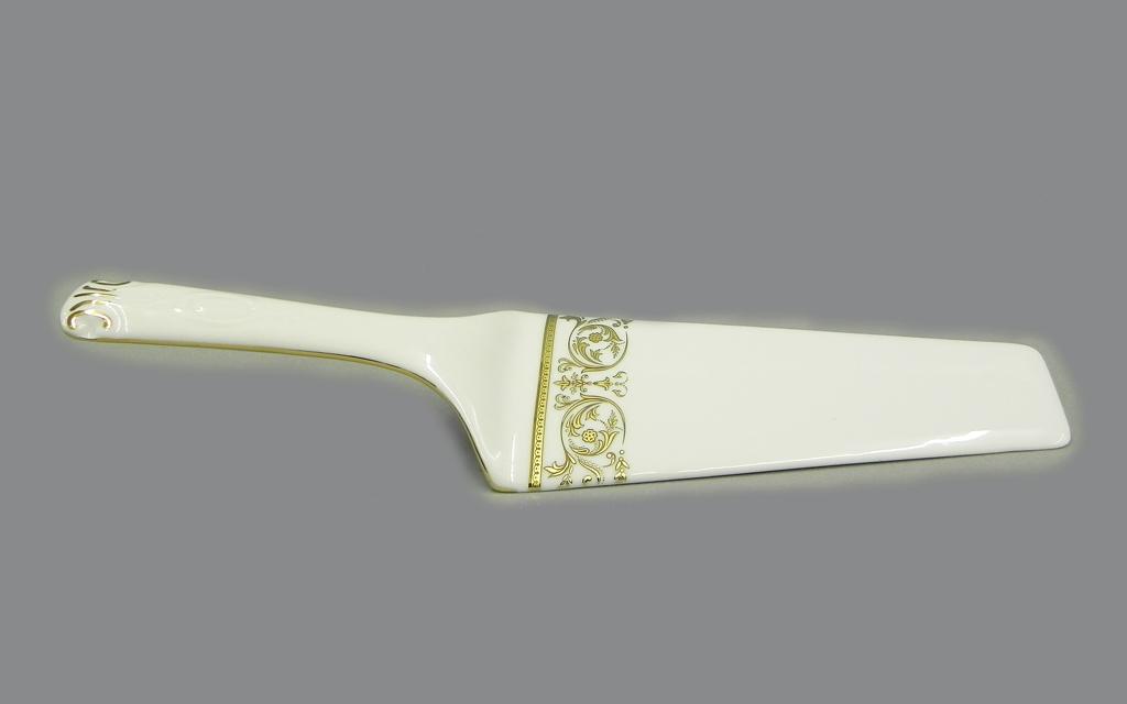Фото Лопатка для торта Леандер Форма Соната Королевский золотой