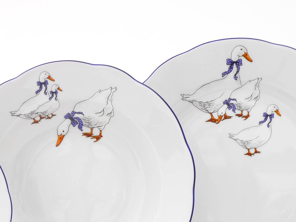 Фото Набор тарелок 18 предметов на 6 персон, Форма Соната Чешские гуси
