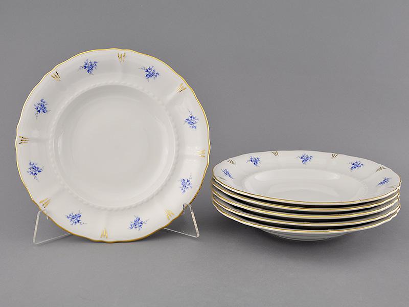Фото Набор тарелок глубоких 23 см, 6 шт, Форма Соната Розмарин