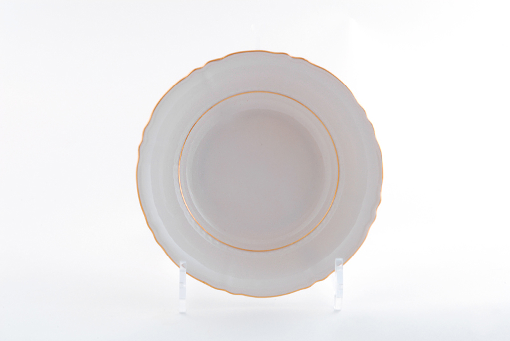 Фото Набор тарелок глубоких 23 см, 6 шт, Форма Соната Золотой контур