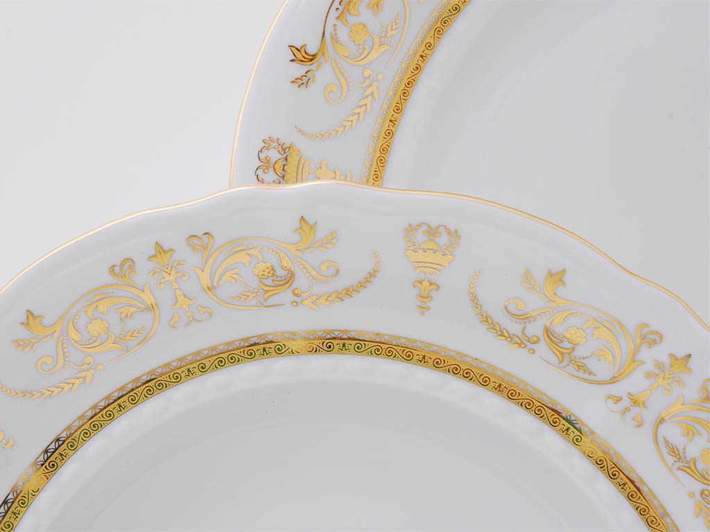 Фото Набор тарелок десертных 17 см, 6 шт, Форма Соната Королевский золотой