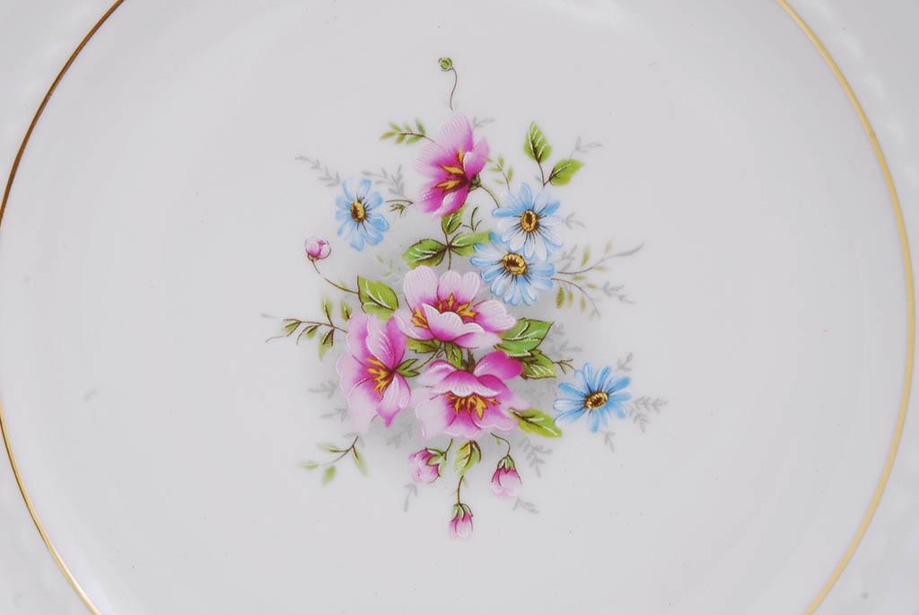 Фото Набор тарелок десертных 19 см, 6 шт, Форма Соната Полевые цветы