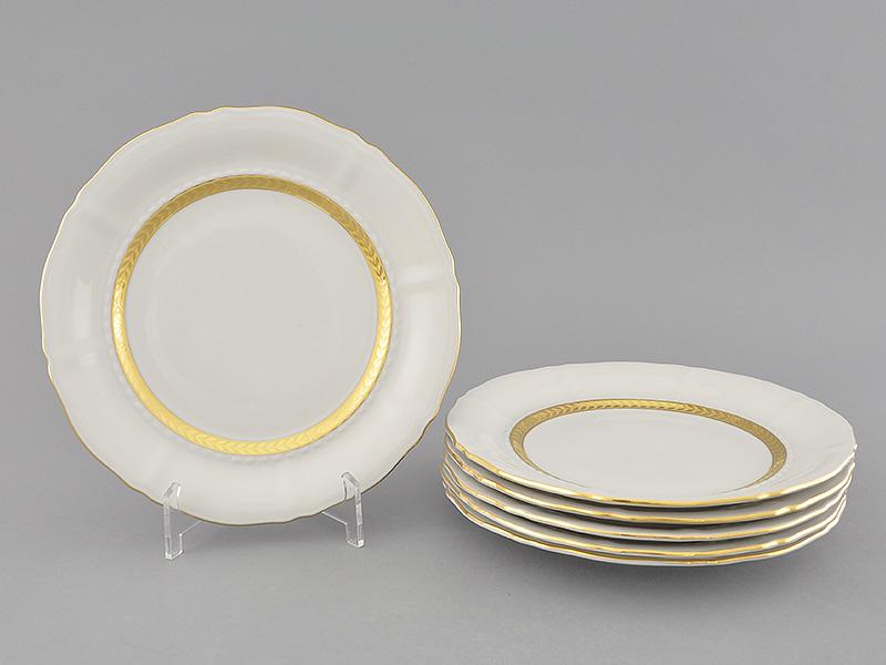 Фото Набор тарелок десертных 19 см, 6 шт, Форма Соната Белиссима золото