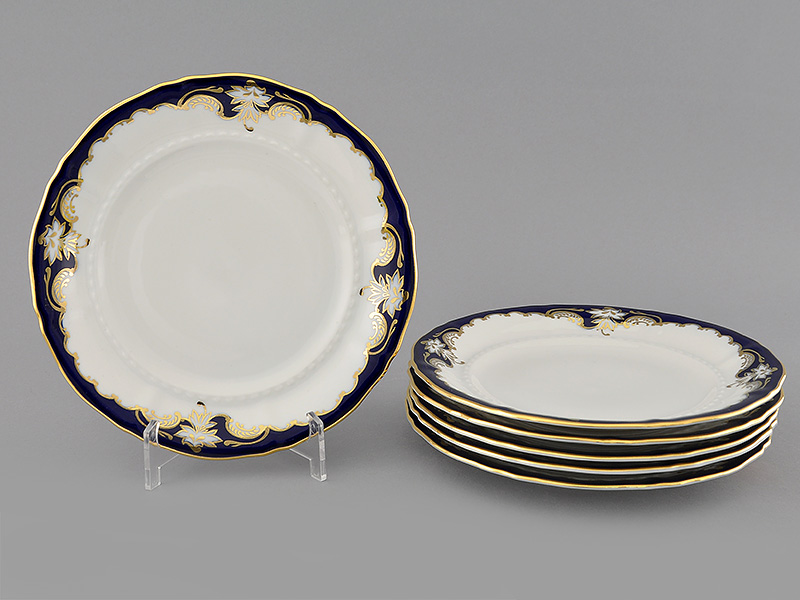 Фото Набор тарелок десертных 19 см, 6 шт, Форма Соната Виноград кобальт