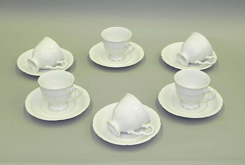 Фото Набор чашек кофейных с блюдцем 150 мл, 6 шт Форма Соната Лунный свет