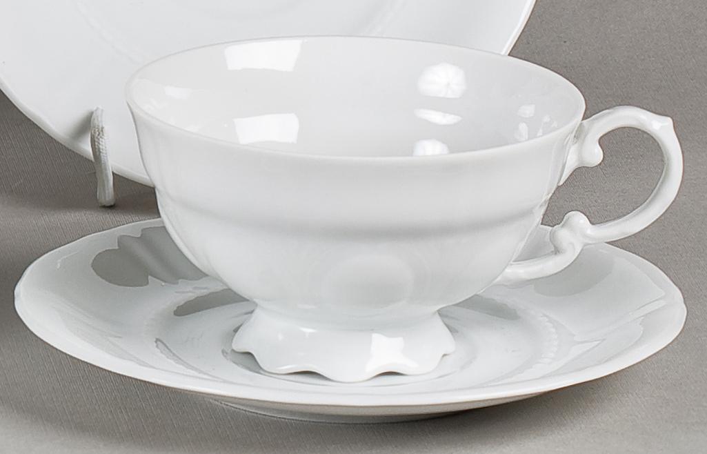 Фото Набор чашек низких с блюдцем 200 мл, 6 шт Форма Соната Лунный свет