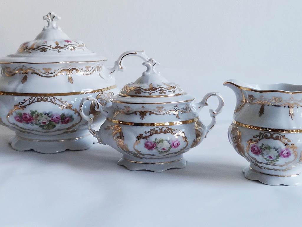 Фото Сервиз чайный Леандер 15 предметов на 6 персон Форма Соната Золотой Сад