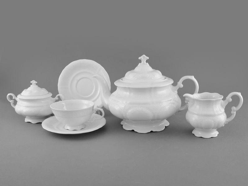 Фото Сервиз чайный Леандер 15 предметов на 6 персон Форма Соната Белый орнамент