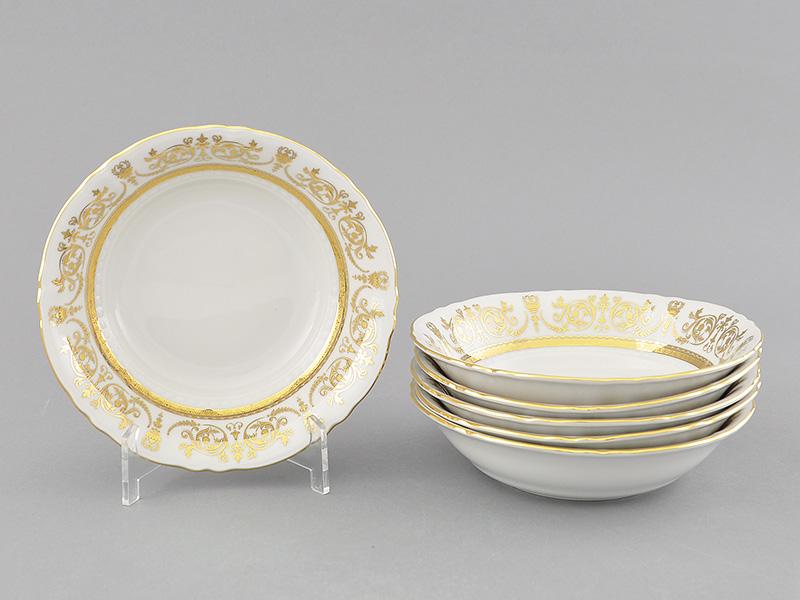 Фото Набор салатников 16 см, 6 шт, Форма Соната Королевский золотой