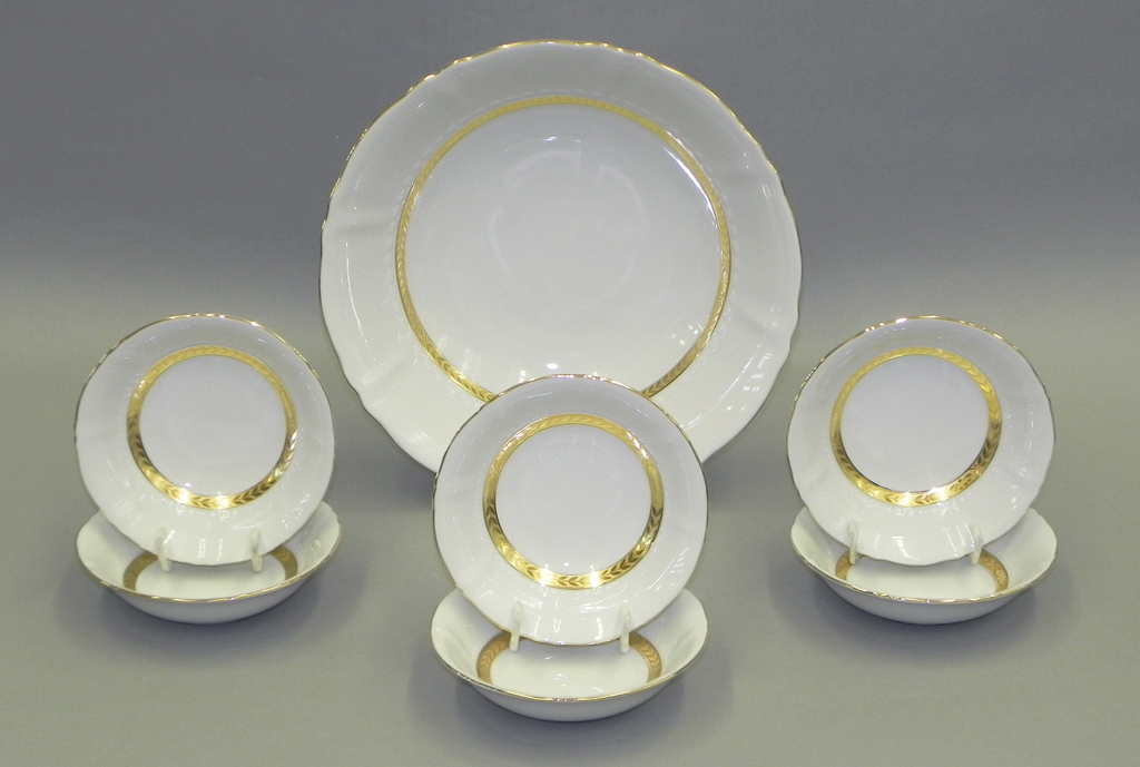 Фото Набор салатников Леандер 7 шт Форма Соната Белиссима золото