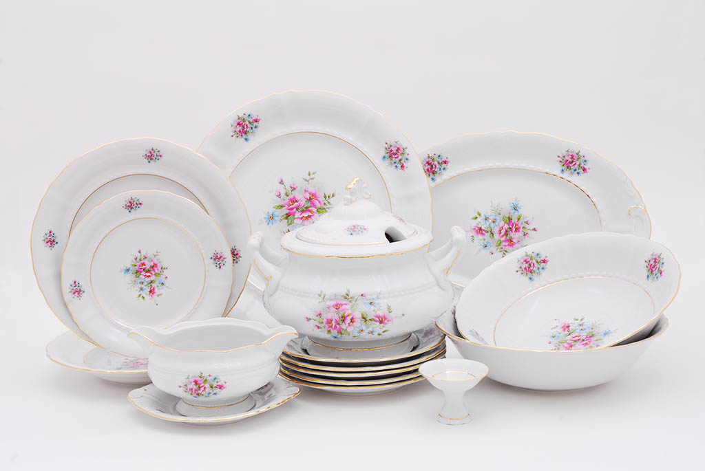 Фото Сервиз столовый Леандер 25 предметов на 6 персон, Форма Соната Полевые цветы