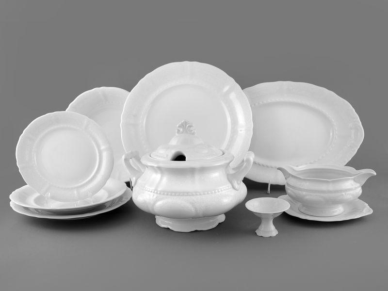 Фото Сервиз столовый Леандер 25 предметов на 6 персон, Форма Соната Белый орнамент