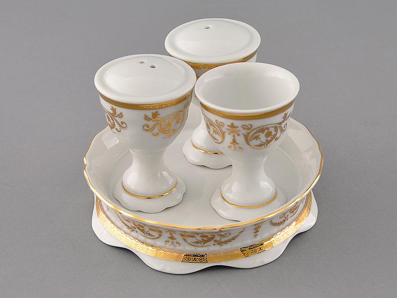 Фото Набор для приправ Леандер, 4 предмета, Форма Соната Королевский золотой