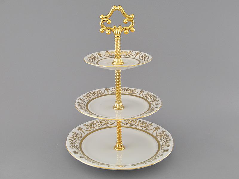 Фото Горка Леандер 30 см, три уровня, Форма Соната Королевский золотой