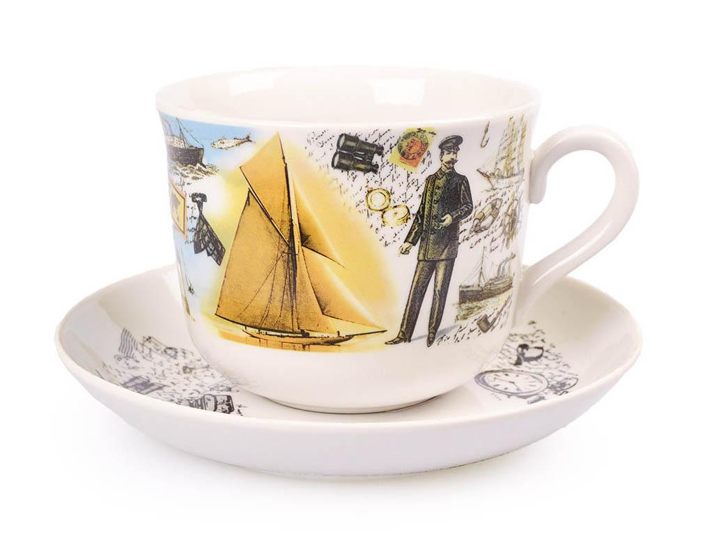 Фото Чашка чайная с блюдцем 450 мл Ностальгия Джентльмены