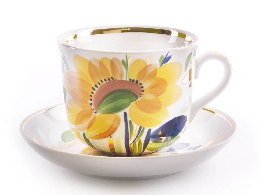 Фото Чашка чайная с блюдцем 450 мл Ностальгия Летнее утро