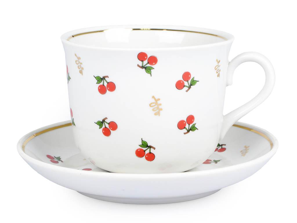 Фото Чашка чайная с блюдцем 450 мл Ностальгия Ягодки