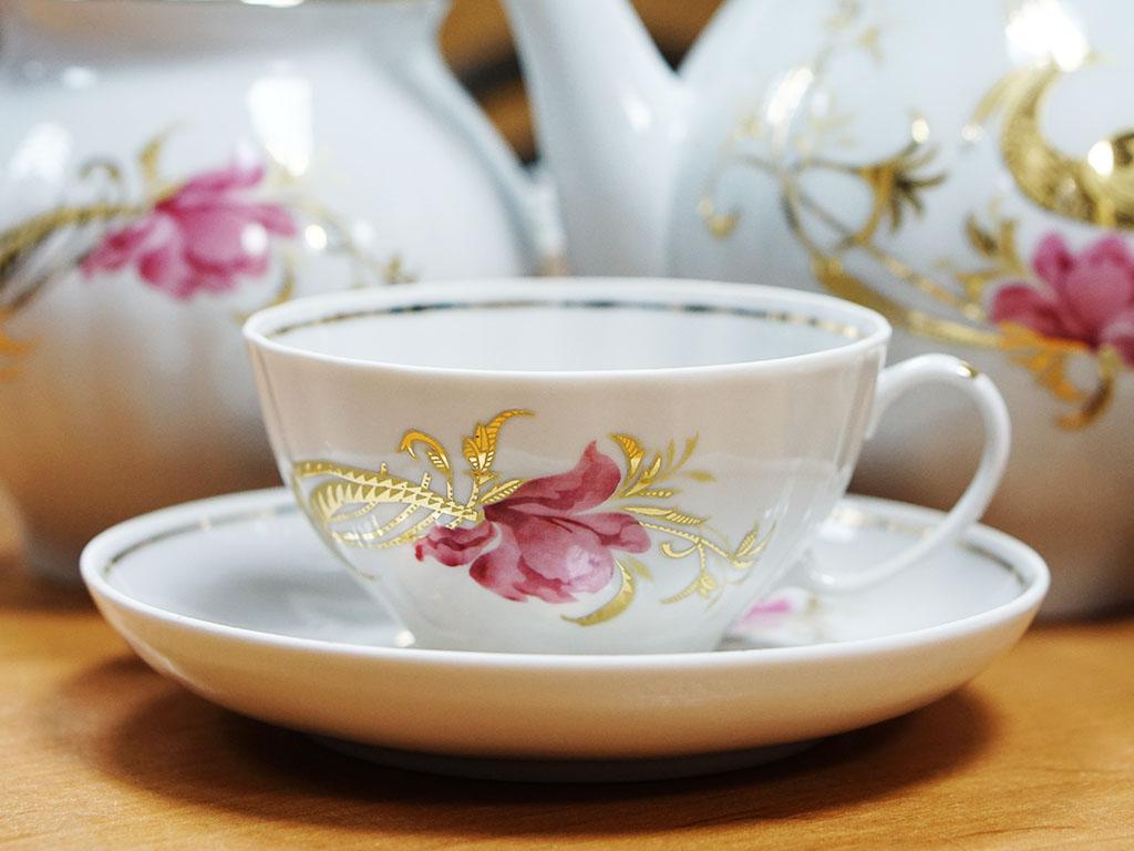 Фото Сервиз чайный Дулево Белый лебедь Жар-птица, 15 предметов 2с