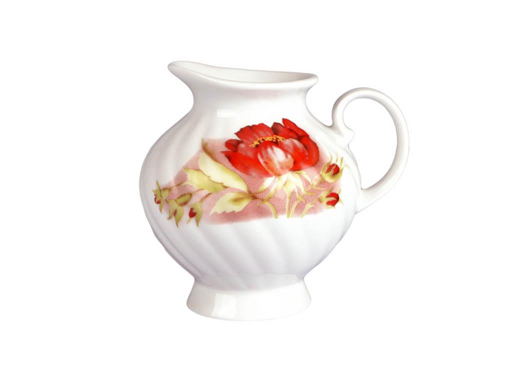 Фото Сервиз чайный Дулево Голубая роза Альпийские цветы, 15 предметов