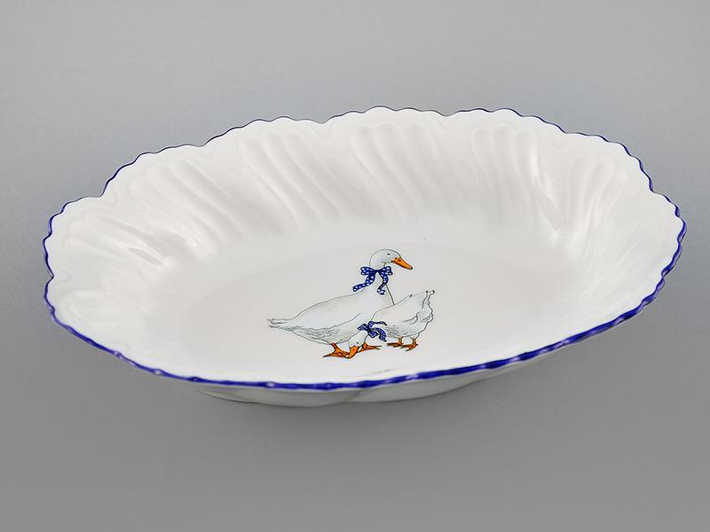 Фото Блюдо овальное глубокое 18,5 см Форма Мэри-Энн Чешские гуси