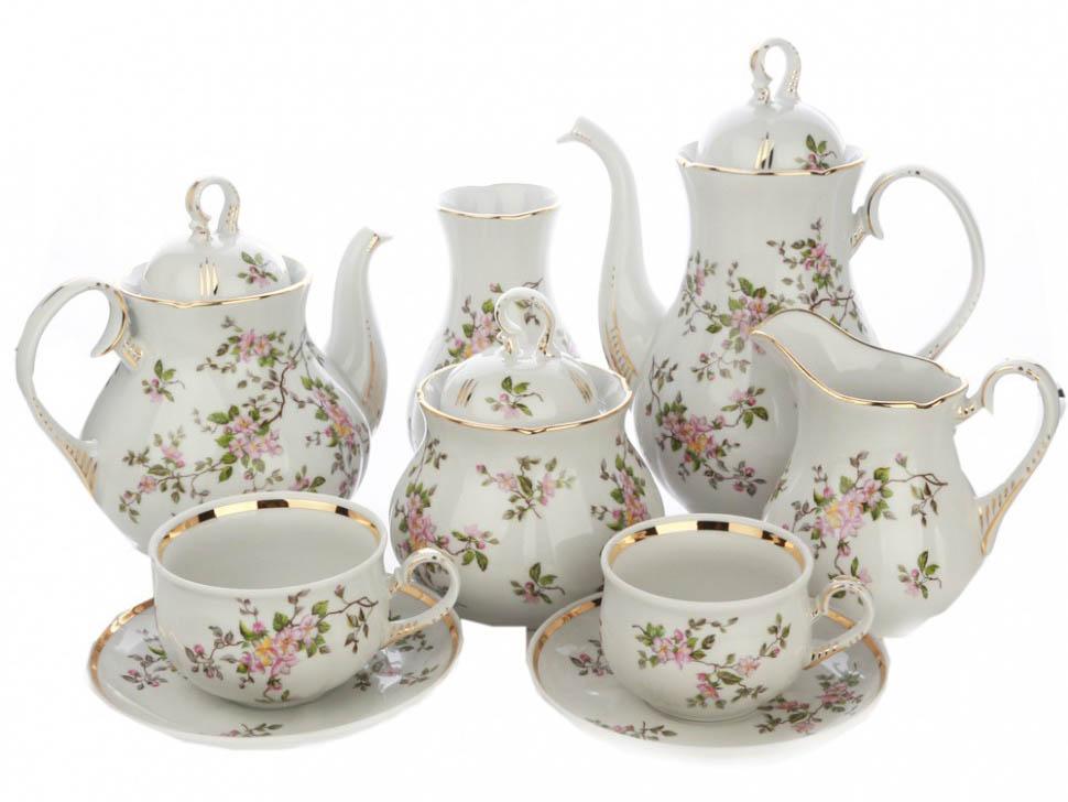 Фото Сервиз чайно-кофейный Дулево Аппетитный Цветение, 29 предметов