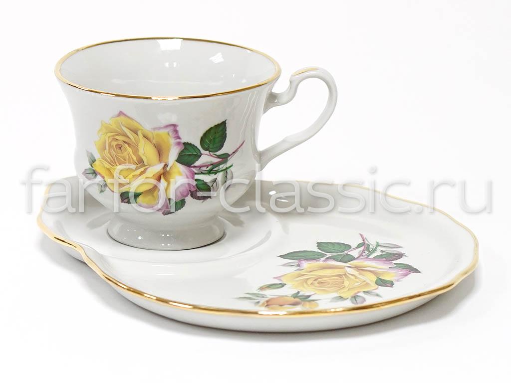 Фото Чашка чайная с блюдцем 270 мл Весенний Рита