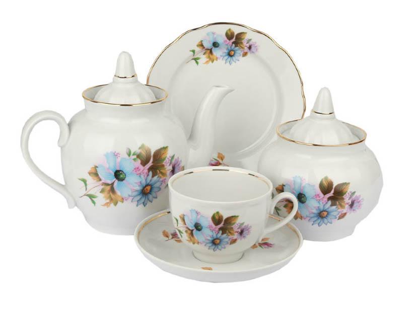 Фото Сервиз чайный Дулево Гранатовый Сапфир, 20 предметов