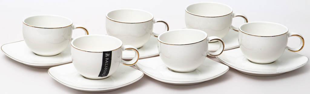 Фото Набор чашек кофейных с блюдцем Balsford Грация Форма Хама 90 мл 6 шт
