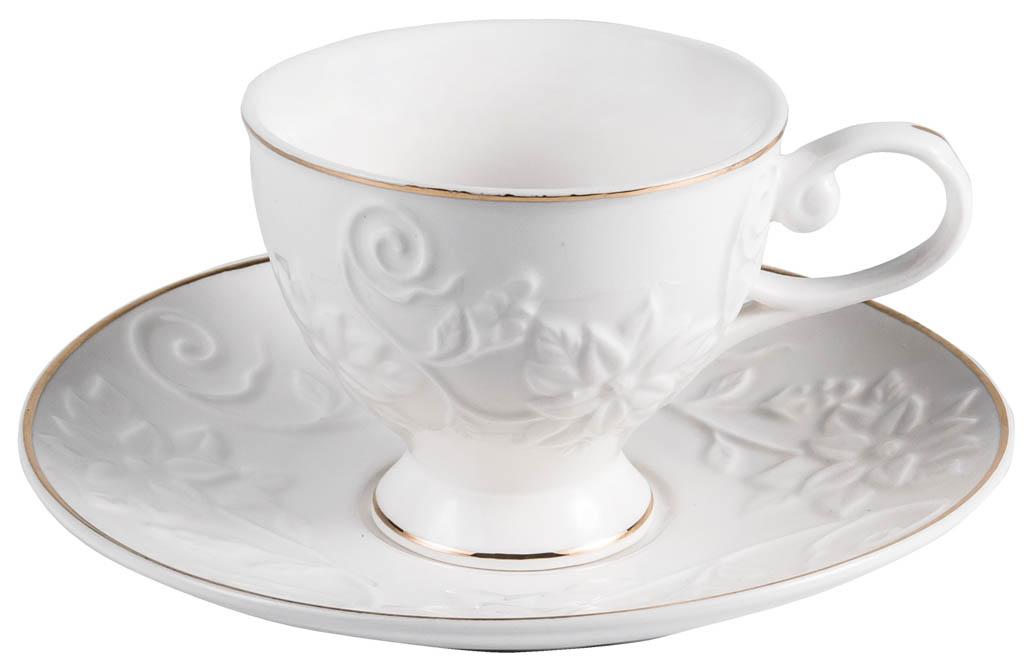 Фото Набор чашек кофейных с блюдцем Balsford Грация Галатея 100 мл 6 шт
