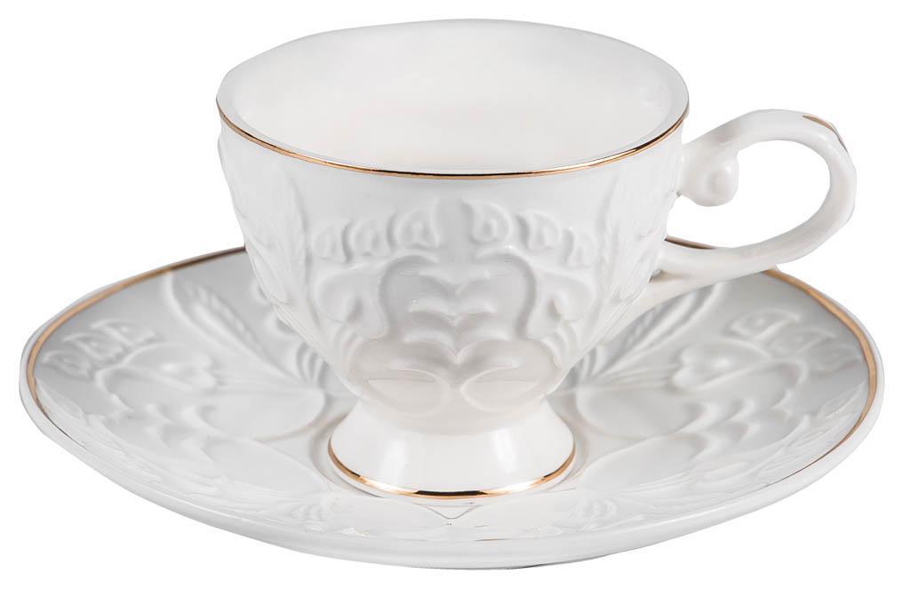Фото Набор чашек кофейных с блюдцем Balsford Грация Актея 100 мл 6 шт