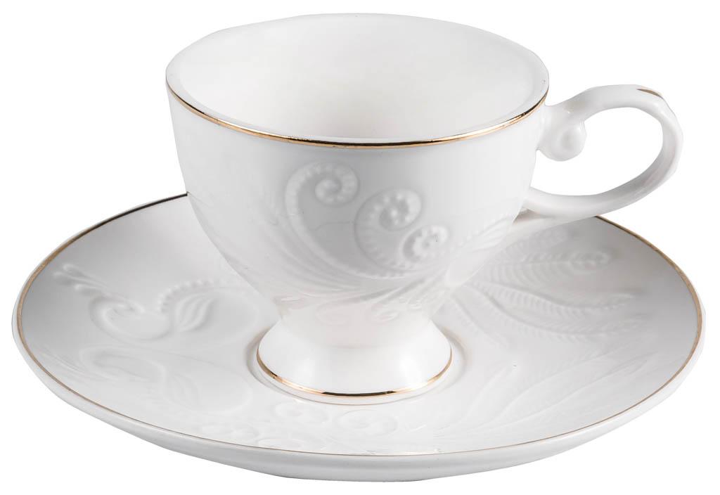 Фото Набор чашек кофейных с блюдцем Balsford Грация Евника 100 мл 6 шт