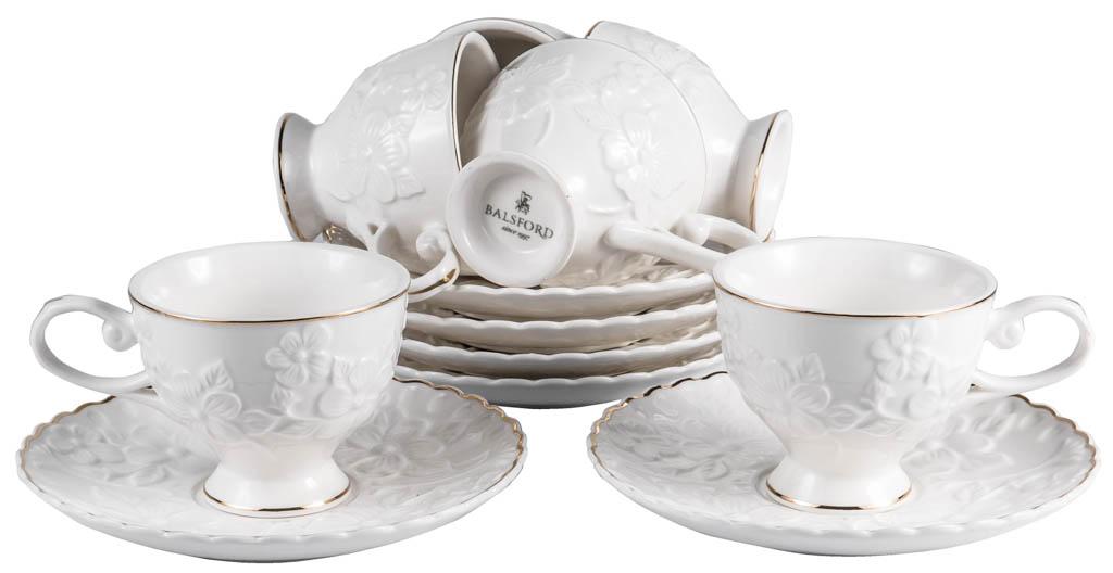 Фото Набор чашек кофейных с блюдцем Balsford Грация Галия 100 мл 6 шт