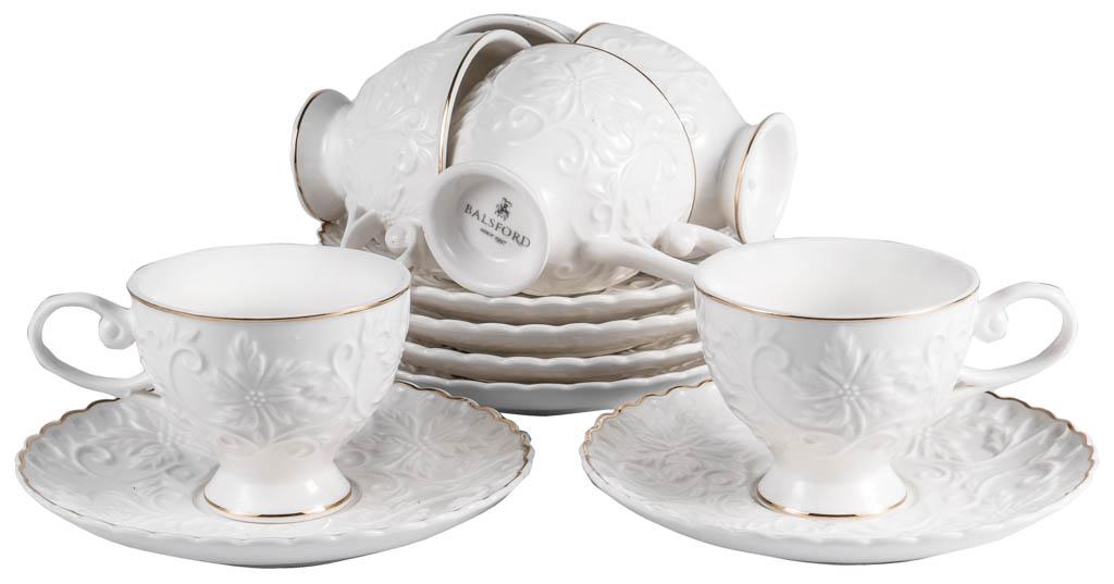 Фото Набор чашек кофейных с блюдцем Balsford Грация Лисиа 100 мл 6 шт